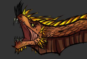 Earth Dragon head by Arma-works