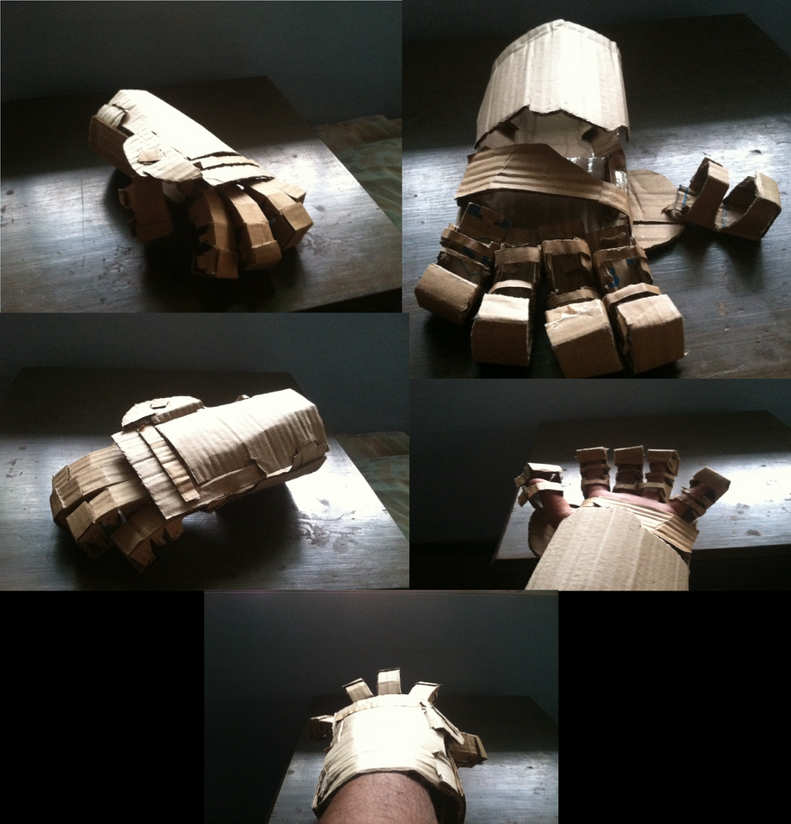 Cardboard glove by tracender02