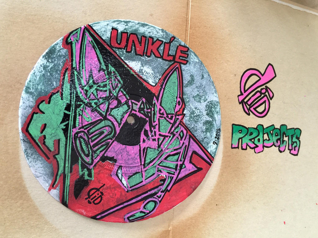 UNKLE 7 inch vinyl art by diDprojects