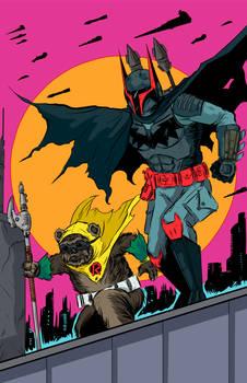 Batman/Boba Fett And Ewok Robin!