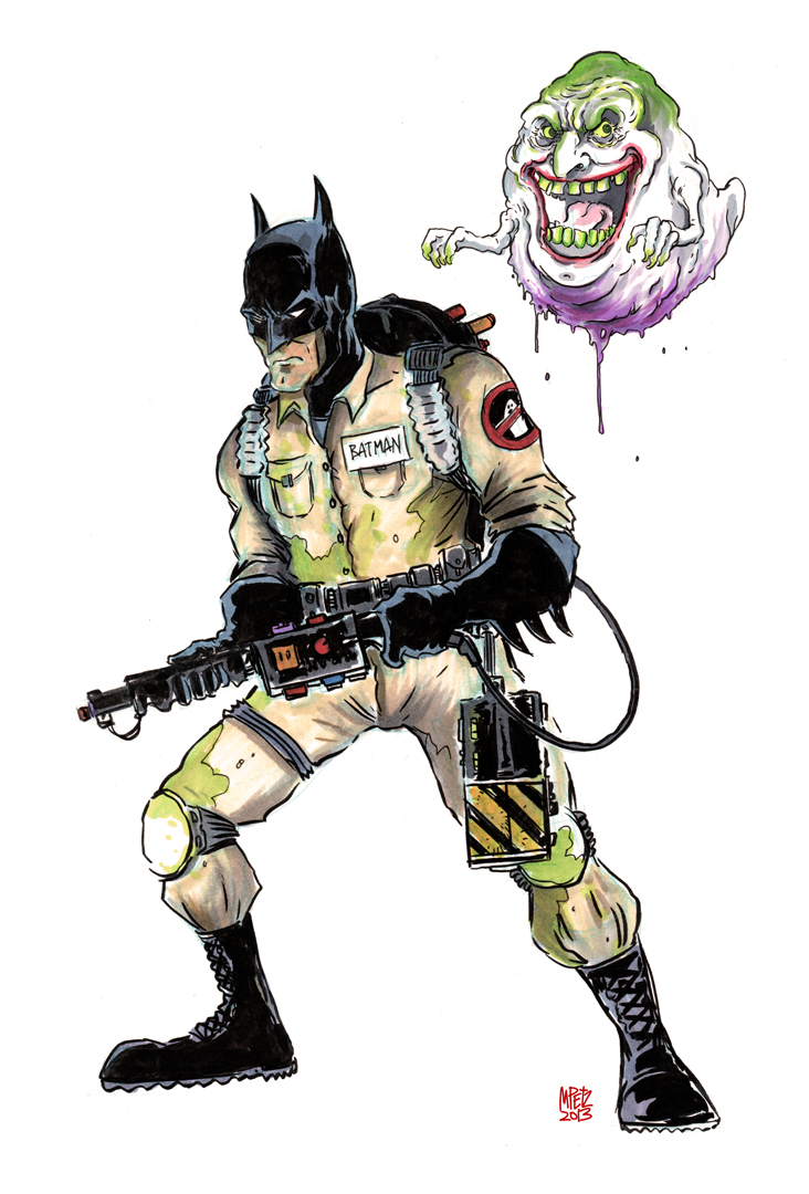 Batman/Ghostbuster by MatthewPetz