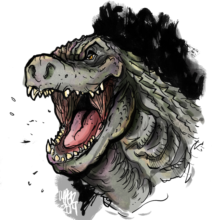Legendary Godzilla 2014 - COLOR by MatthewPetz