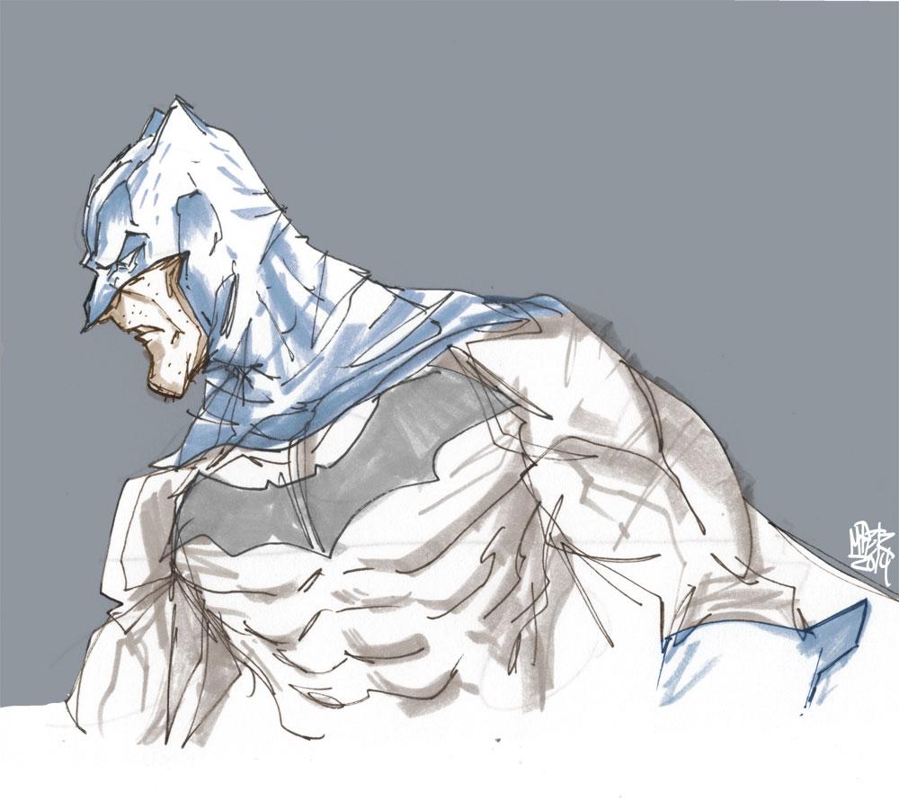 Phone Doodle - Batman by MatthewPetz