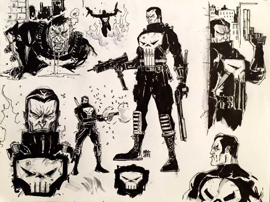 Punisher Sketches by MatthewPetz