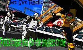 Jet Set Radio- running from the cops by kaijuotaku96