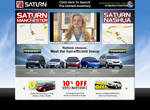 Saturn Home Page Design