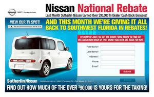 nissan national rebate by xstortionist