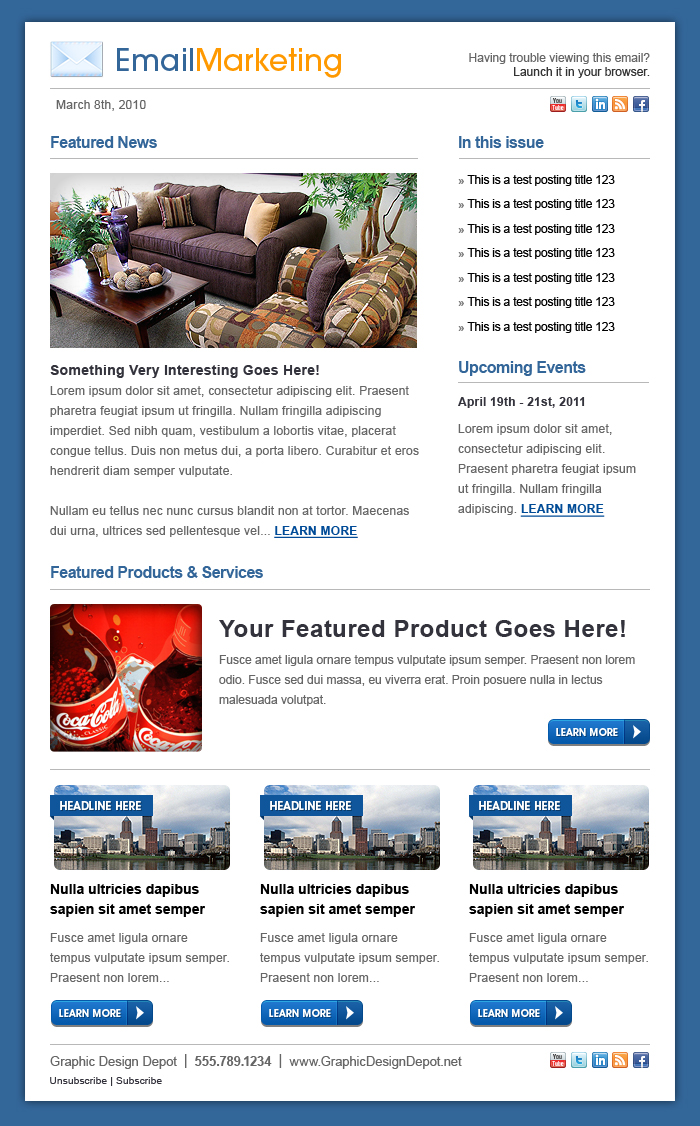 eMail Marketing Template by xstortionist on DeviantArt – Marketing Email Template