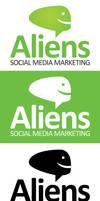 Aliens Social Media Logo Template