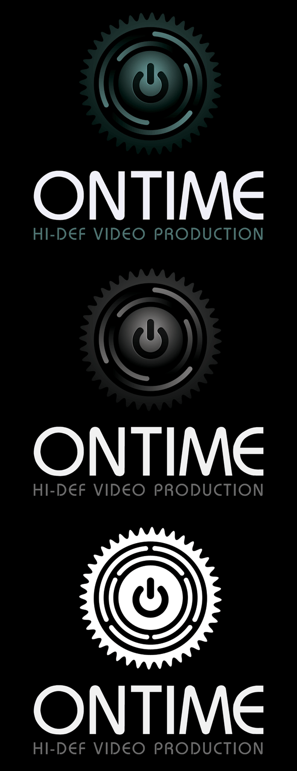 Ontime Video Production Logo Template