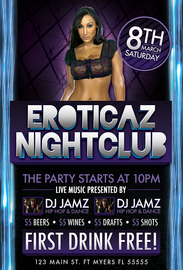 night club flyer design by xstortionist