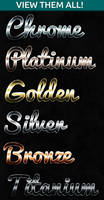 Chrome Metal Text Styles for Photoshop