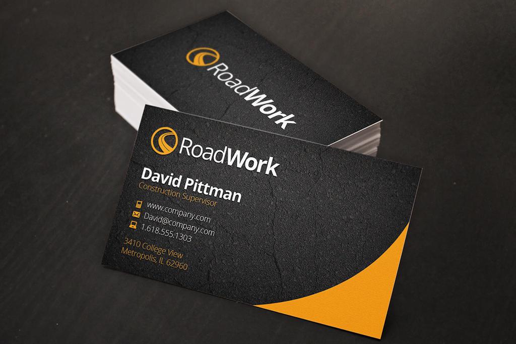 Asphalt Business Cards