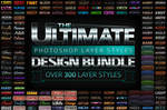 Ultimate PSD Layer Styles Bundle Over 300 Effects