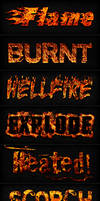 Fire Text for Adobe Photoshop