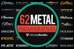 Metal and Chrome Text Bundle for Photoshop