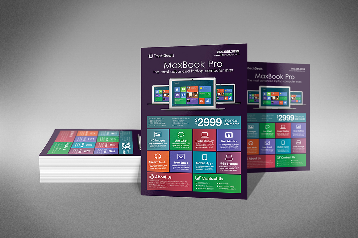 Electronics Business Flyer Template By Xstortionist On DeviantArt - Electronic flyers templates