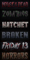 Horror Movie Poster Text for Photoshop