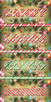 Christmas Candy Cane Text for Adobe Photoshop