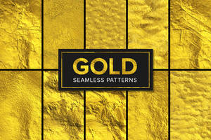 11 Gold Foil Patterns - Seamless by xstortionist