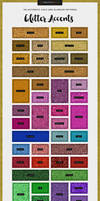 Glitter Design Accents Patterns for Scrapbooking by xstortionist