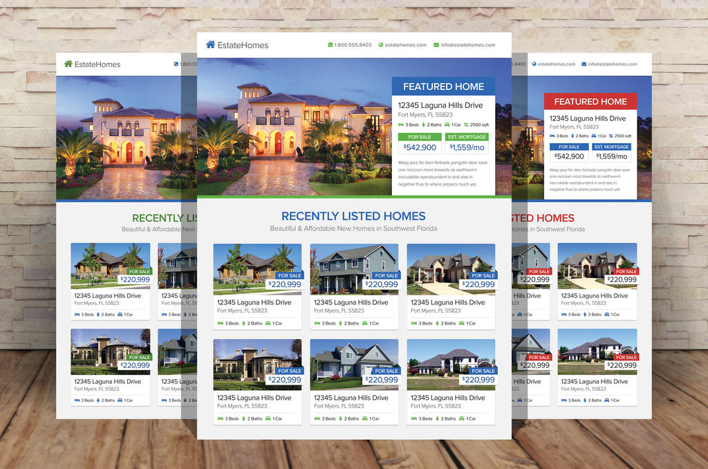 Real estate flyer template by xstortionist on deviantart for Real estate home ideas