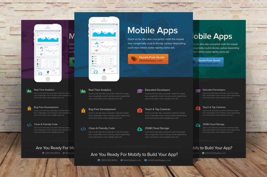 Mobile app flyer template by xstortionist on deviantart for Craft fair application template