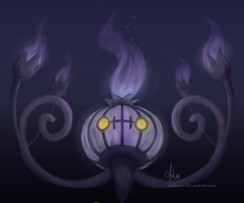 Day 9 - Chandelure by Ankaa-C