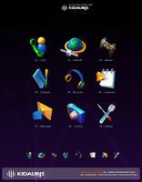KIDAUBIS moble icon design by kidaubis