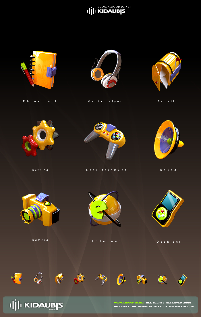 KIDAUBIS mobile ICON design 2 by kidaubis