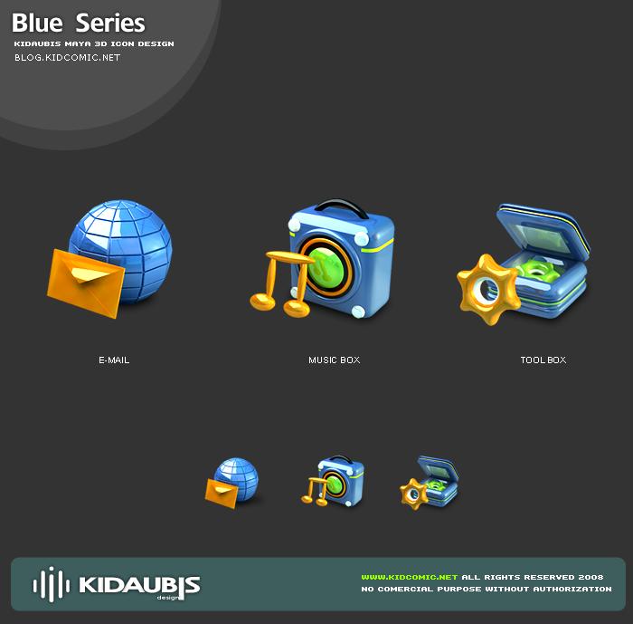 KIDAUBIS 3D ICON - Blue series by kidaubis