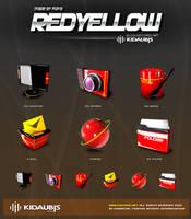 kidaubis_redyellow_3d icon by kidaubis