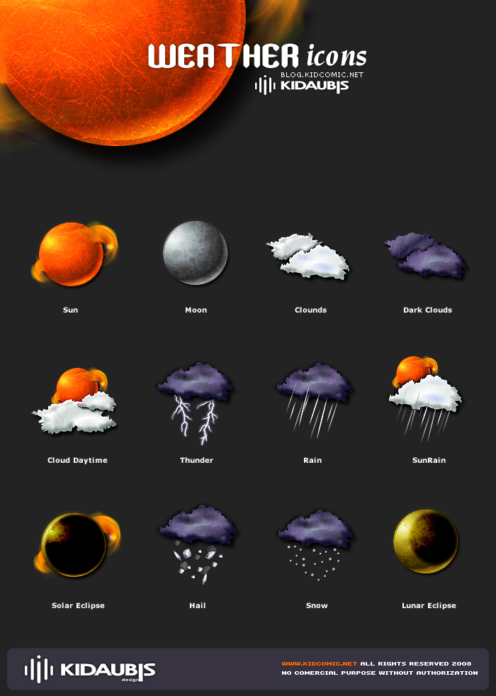 Weather icons by kidaubis