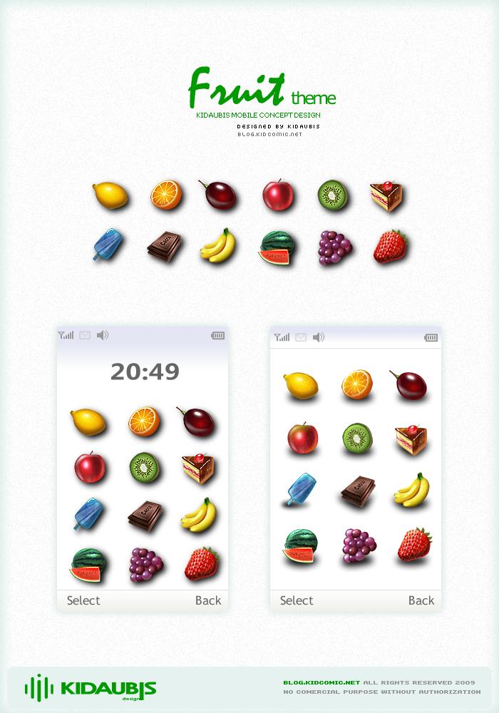 fruit theme -  concept design by kidaubis