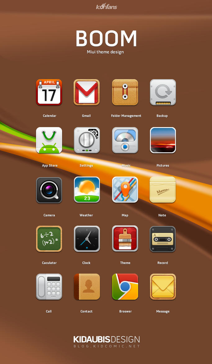 Miui theme Boom by kidaubis