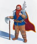 Gimli son of Gloin in Watercolour by Ergo-Art