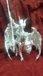 Valkia the Bloody - Aluminum Foil Sculpture by TheFoilGuy