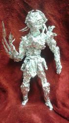 Predator - Aluminum Foil Sculpture by TheFoilGuy