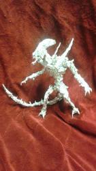 Xenomorph - Aluminum Foil Sculpture by TheFoilGuy