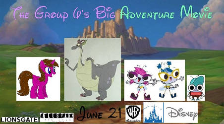 The Group 6's Big Adventure Movie (2019) Poster by hannah731