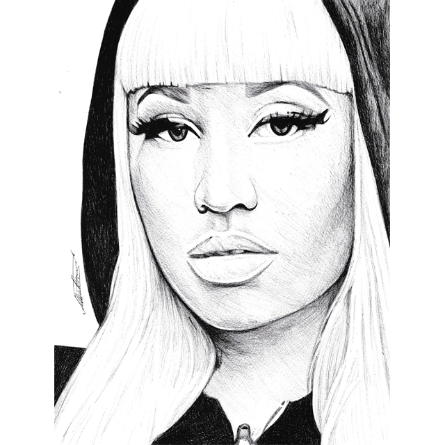 Pen drawing of nicki minaj freehand by demoose21 on deviantart pen drawing of nicki minaj freehand by demoose21 voltagebd Image collections