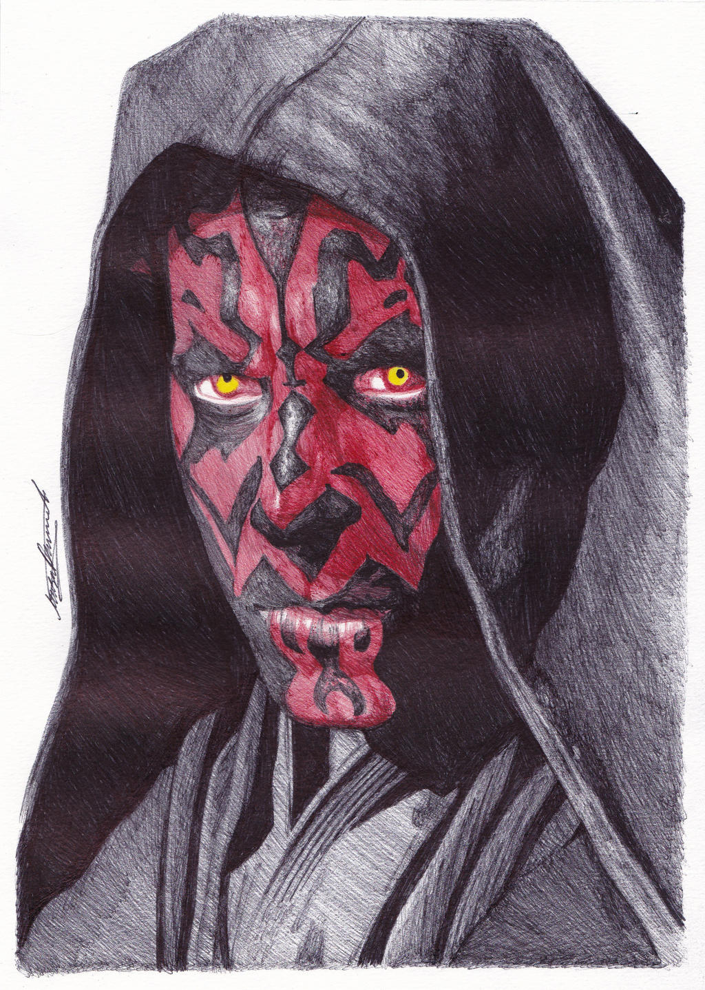 Darth Maul Ballpoint Pen Drawing. by demoose21 on DeviantArt