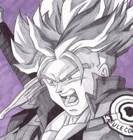 Trunks DBZ Pen Drawing