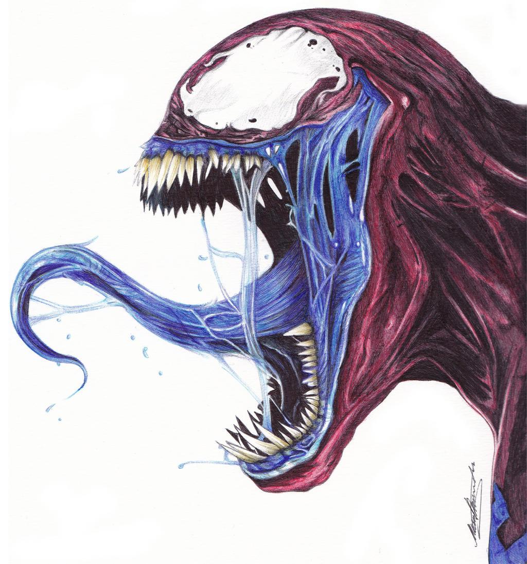 Venom Ballpoint Pen Drawing by demoose21 on DeviantArt