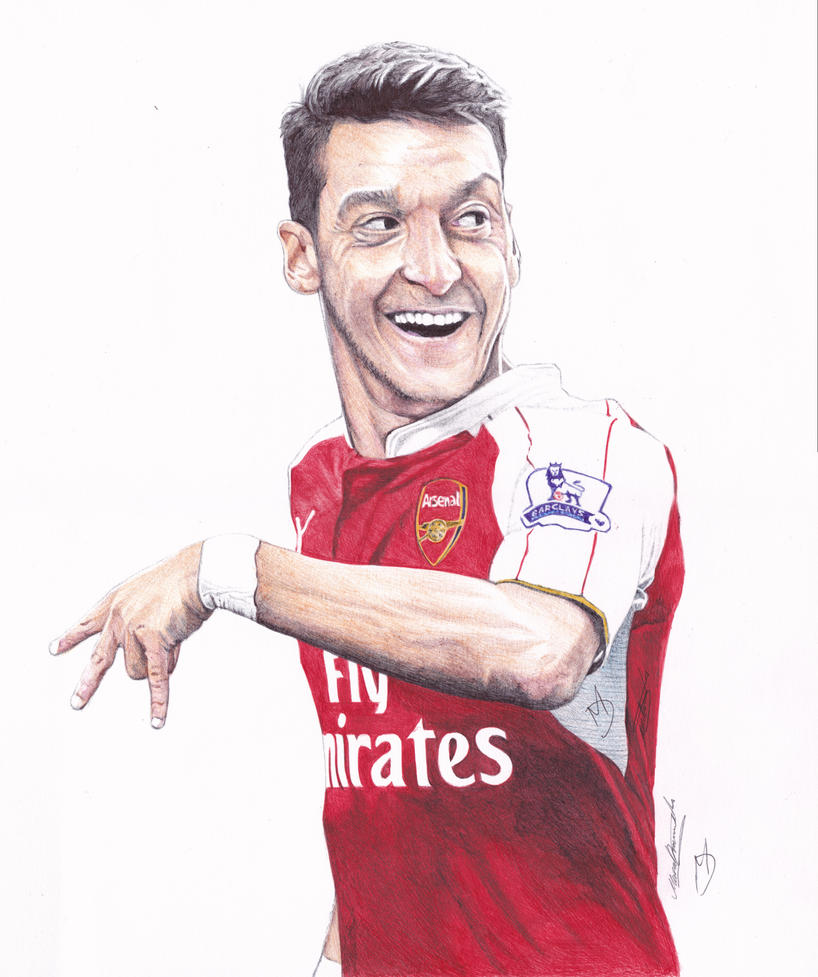 Mesut Ozil Ballpoint Pen Drawing by demoose21 on DeviantArt