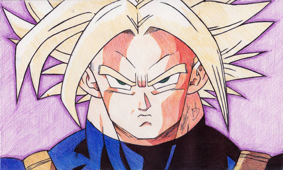 Super Trunks Ballpoint Pen Drawing