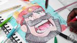 Clash Royale Ballpoint Pen Drawing - DeMoose Art