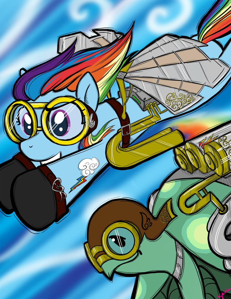 Steampunk Dash and Tank by bunnimation