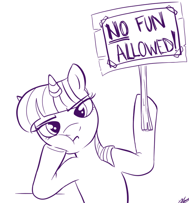 no fun here by bunnimation