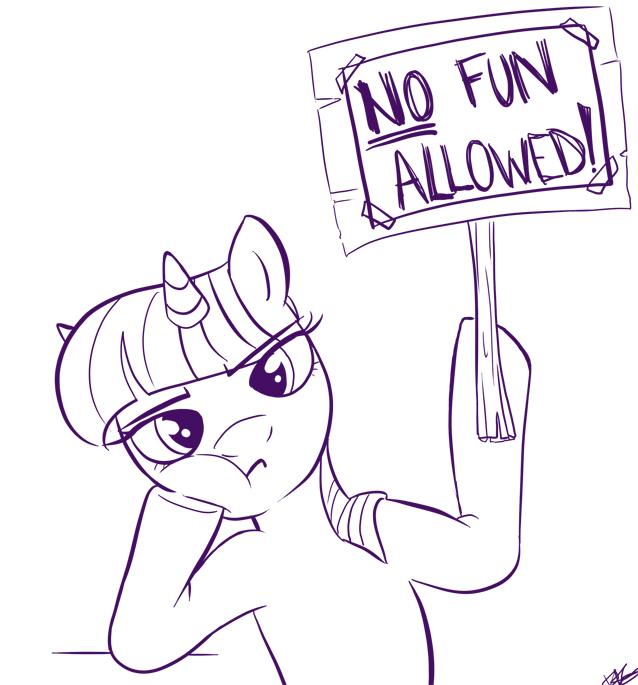 no fun here by bunnimation